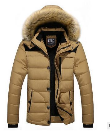 Fall-W102 Men Winter Jackets Coats Warm Down Jacket Outdoor Hooded Fur Mens Thick Faux Fur Inner Parkas Plus Size Famous Brand