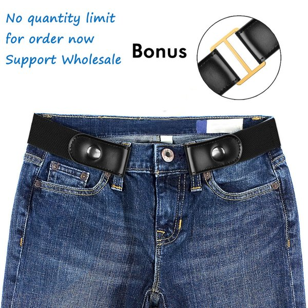 BONJEAN Buckle-Free Belt For Jean Pants,Dresses,No Buckle Stretch Elastic Waist Belt For Women/Men,No Bulge,No Hassle Waist Belt D18102905