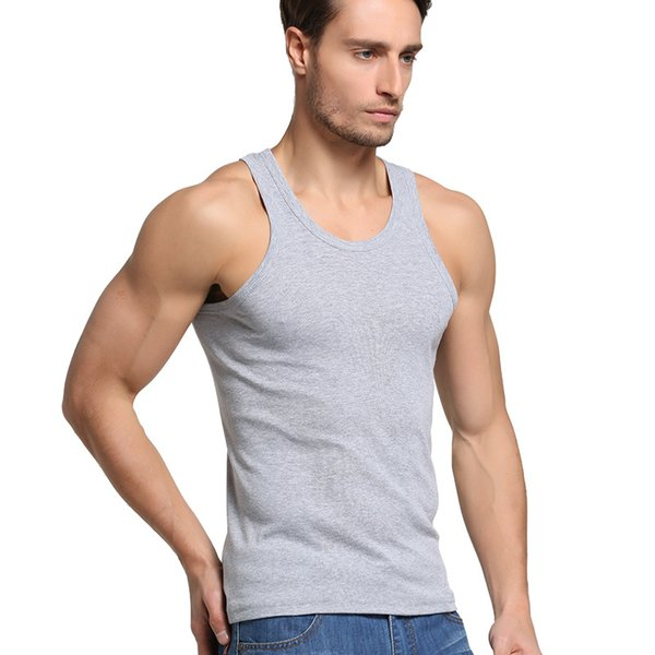 6cc3377b Mens Tank Top Vest Gym Tank Tops Muscle Cut Stringer Bodybuilding Workout  Sleeveless Gym Shirts 3