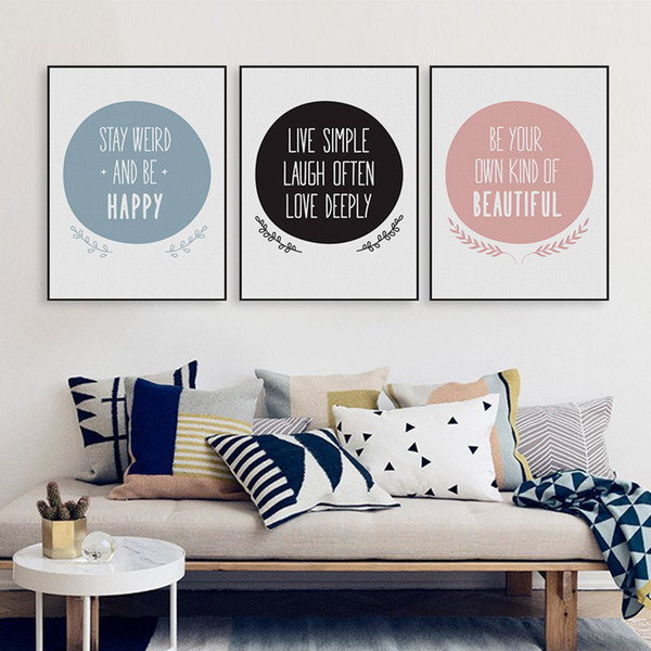 2019 Nordic Motivational Positive Quote Canvas Art Print Poster Big Typography Wall Picture Living Room Home Decor Painting No Frame From lybrand
