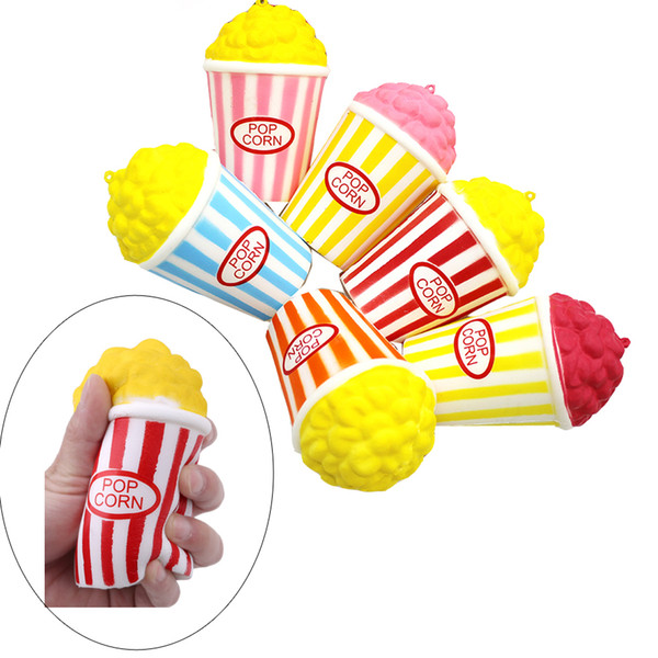 best selling Kawaii Squishies Slow Rising Perfume Red Color Popcorn Squishy Decompression Simulation Popcorn Squishies Squeeze Vent Home Decor FD0002