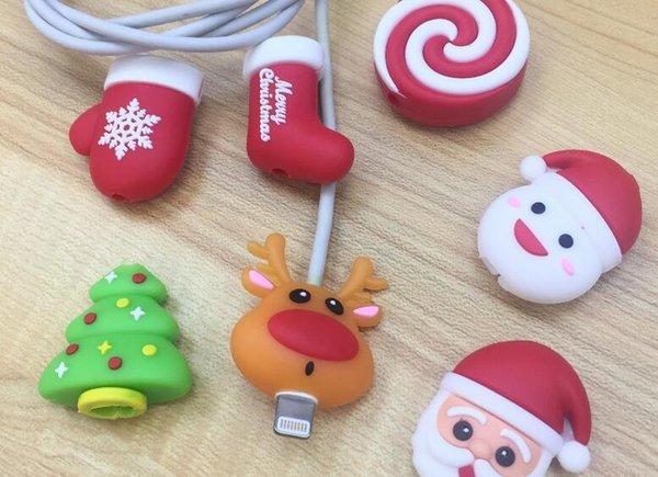 Кабель для передачи данных линии протектора Прекрасный животных Укус защиты Организатор Winder Christmas Xmas Chompers зарядный провода Держатель кусаться для iPhone