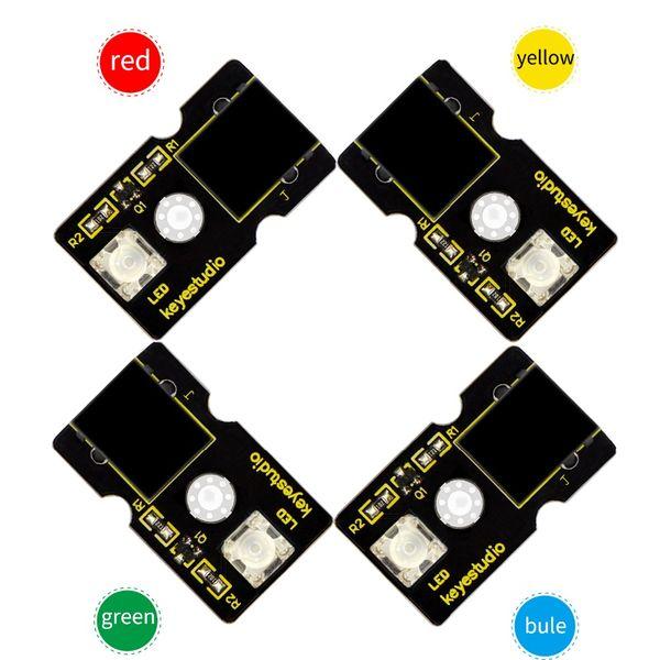 4pcs/lot Keyestudio EASY Plug RJ11 Piranha L ED Module for Arduino(Red/Green/Bule/Yellow)