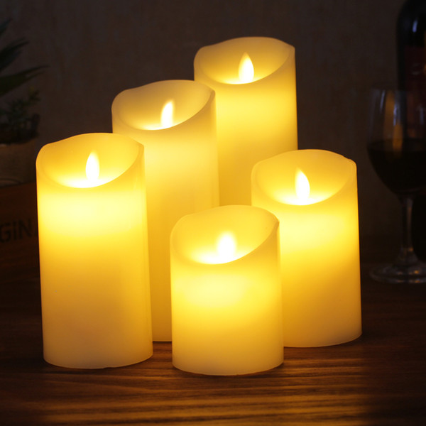 Factory outlet brand new wax led candles XY-G575/175 with warm flickering lights powered by 3*AAA batteries