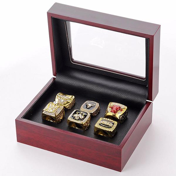 Nacional de basquete chicago anel do campeonato do mundo 6 ano touros anel de campeão para fan souvenir coleção de jóias sp1403