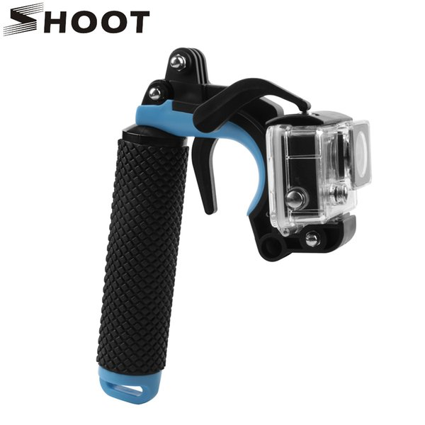 wholesale Floating Bobber Grip Pistol Trigger Set for GoPro Hero 6 5 4 Xiaomi Yi 4K SJCAM SJ4000 h9r Cam Phone Dome Go Pro Accessory