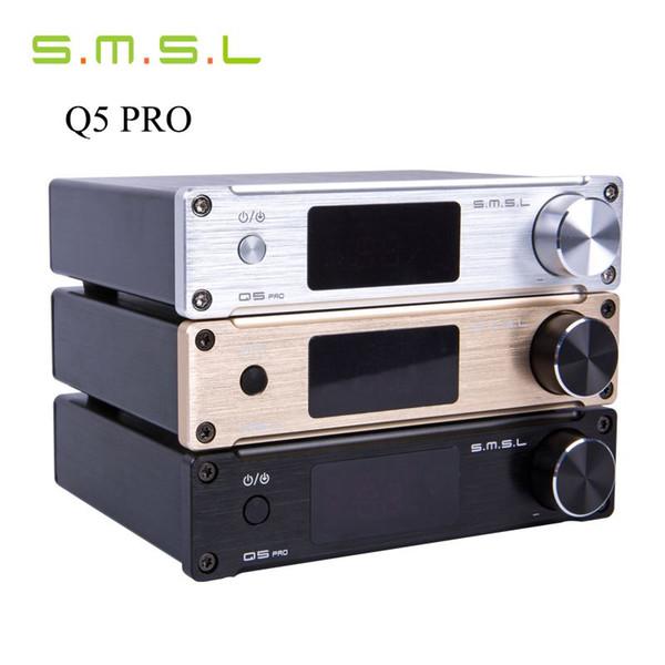Freeshipping SMSL Q5 Pro 45W*2 HiFi 2.0 Pure Mini Home Digital Audio Power Amplifier 24bit/96kHz USB DAC/Optical/Coaxial With Remote Control
