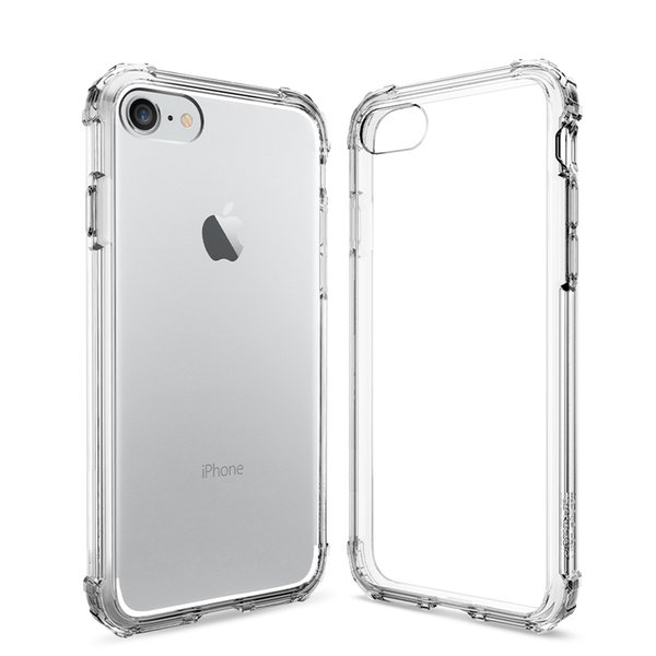 "Affirmation100% Original Spigen Crystal Case for iPhone 7/8 4.7"" Case Phone Military Grade + Rear Panel Clear Hybrid Truck Super Protection"