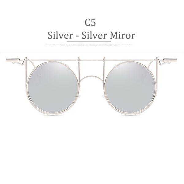 C5 Silver Frame Silver Miror