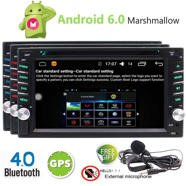 EinCar Android 6.0 Marshmallow Car Stereo Double 2 Din 6.2'' Capacitive Touch Screen Car DVD Player In Dash GPS Navigation Bluetooth