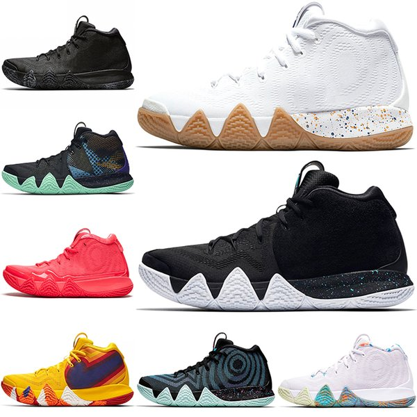 super popular 79db5 c7b83 Kyrie Irving 4 4s Men Uncle Drew Basketball Shoes Triple Black Oreo Red  Carpet 70s 80s 90s Sport Sneakers Size 40 46 Girls Basketball Shoes Best ...