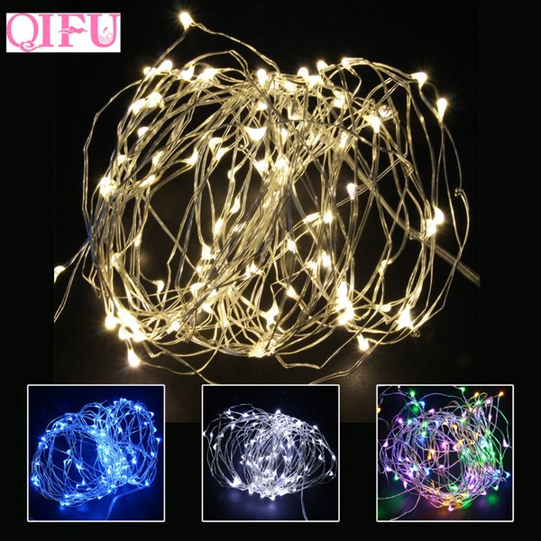 QIFU 2018 Christmas Light Led Copper Wire String Light Battery Operated Lights Christmas Ornament Tree Decor For New Year 2019