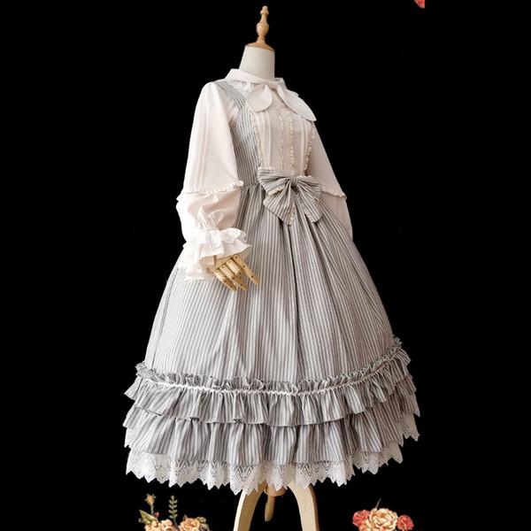 Little Women ~ Classic Striped Lolita JSK Dress by Infanta ~ Pre-order