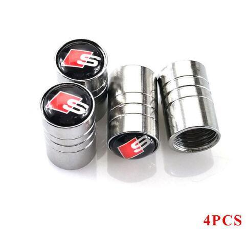 Car Stickers caps For Audi SLine A1 A3 A4 B6 B8 B5 B7 S Line A5 A6 C5 C6 A7 TT Auto Accessories Car-Styling 4pcs