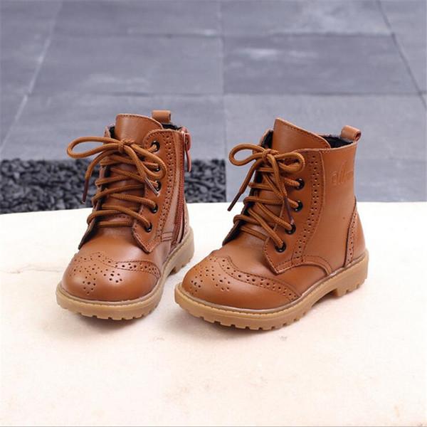 Mädchen Boot Schuh Baby Schwarz Für 21 Martin Stiefel Echtem 37 Einzelnen Großhandel Herbst Größe Kinder Ankle Leder Jungen Mode Winter Von zSpUVqMLG