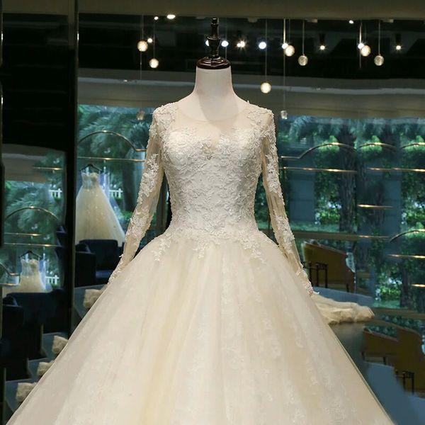 Angel Xian beautiful French style wedding dress simple word shoulder ...