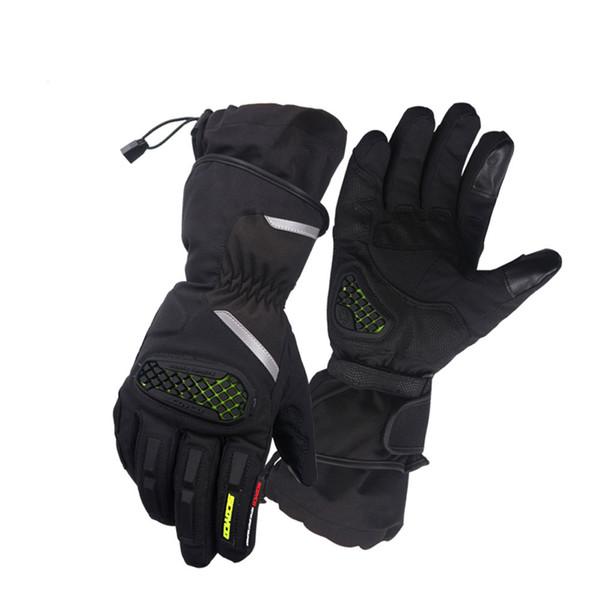 SCOYCO Waterproof Motorcycle Gloves Windproof Moto Gloves Keep Warm Motocross Riding Winter Ski Reflective Safe Glove