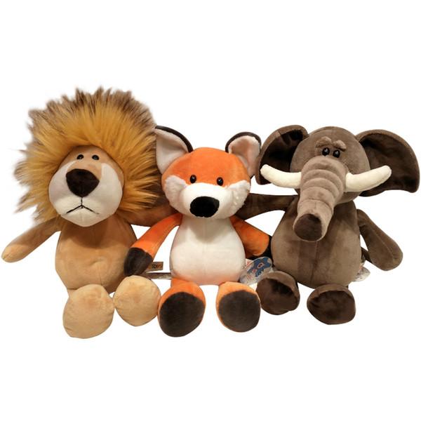 Forest animal doll giraffe elephant lion monkey dog tiger activity gift child birthday stuffed toy Plush Toys