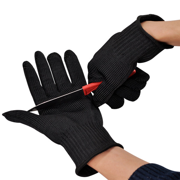 best selling One Pair Stainless Steel Wire Safety Gloves Butcher Anti-cutting Work Protective Gloves Cut-resistant