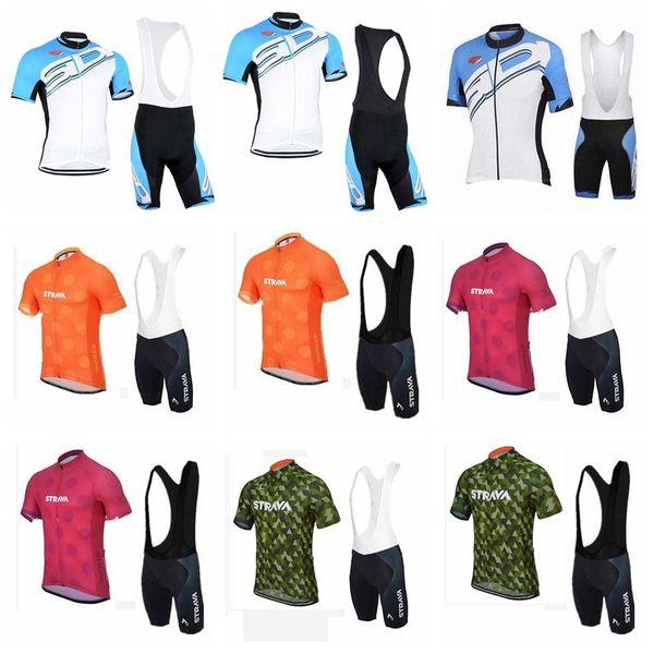 2018 SIDI Strava team Cycling Short Sleeves jersey (bib) shorts sets Spring and summer Bicycle clothing suit men's MTB bike set 90410J