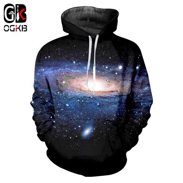 OGKB 2018 Fashion Men Women Galaxy Space 3d Print Spring Autumn Hoodies Streetwear Casual Sweatshirt Plus Size Harajuku Hiphop