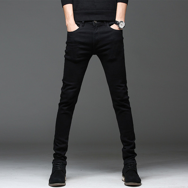 Men's jeans men's autumn new Korean style casual youth Slim stretch pencil pants plus size free shipping