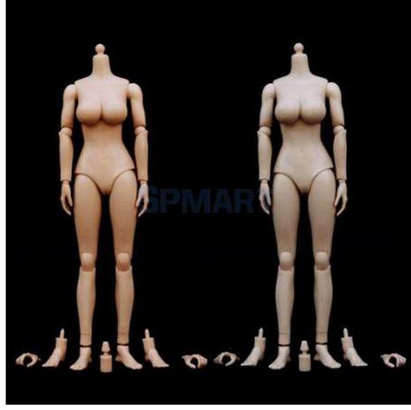 1: 6 Ölçekli Kadın Kız Çıplak Vücut Büyük Büstü 12 '' Action Figure Oyuncak Etrax Eller Ayaklar Phicen Başkanı Sulpt için Vücut Parçaları ile