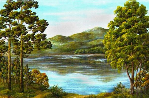 Rhinestone full square diamonds embroidery landscape lake diy diamond painting cross stitch kit home mosaic decoration zxh1330