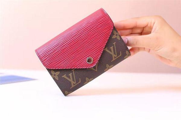 Epi leather short wallet MARIE-LOU short wallet M60494 WALLETS OXIDIZED LEATHER CLUTCHES EVENING LONG CHAIN WALLETS COMPACT PURSE