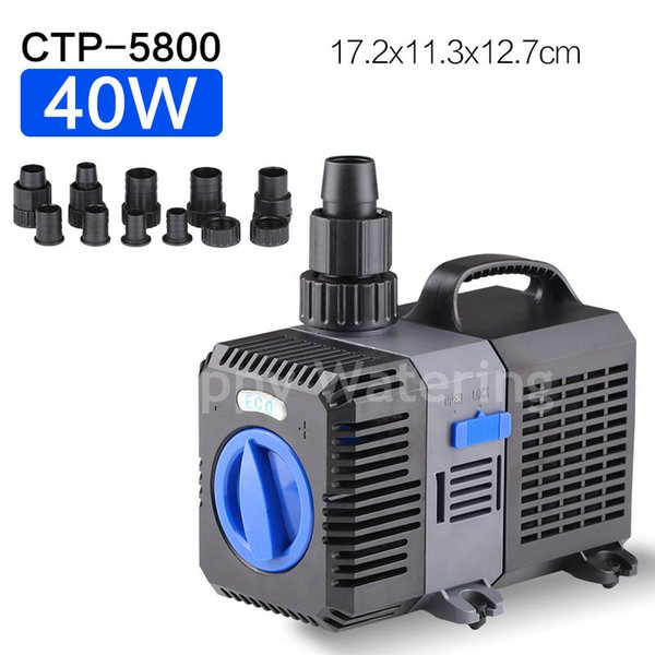 CTP-5800 Type 40W Pond Water Pump 220V Fish Tank Fountain With 5200L/H 4.8M Lift Amphibious Water Pump