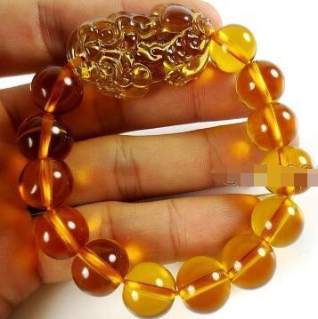 Free Shipping 10pc CHINESE Black yellow stone Bead Dragon Pi Xiu Coin Bangle Feng Shui Bracelet