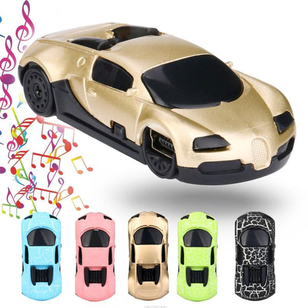 Crack car card mp3 colorful mini plastic car USB player support 32GB Micro SD TF card + earphones best Christmas gift