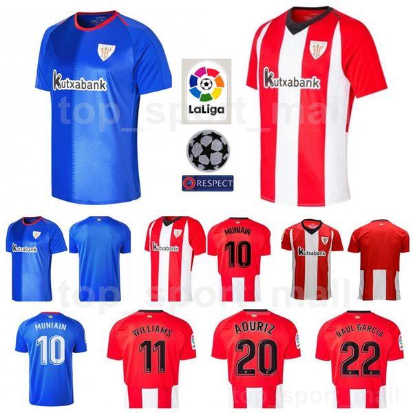 18 19 Season FC Soccer 10 Iker Muniain Jersey Athletic Bilbao La Liga 11  Inaki Williams 20 Aritz Aduriz Football Shirt Kits Uniform 1474a888dfe46