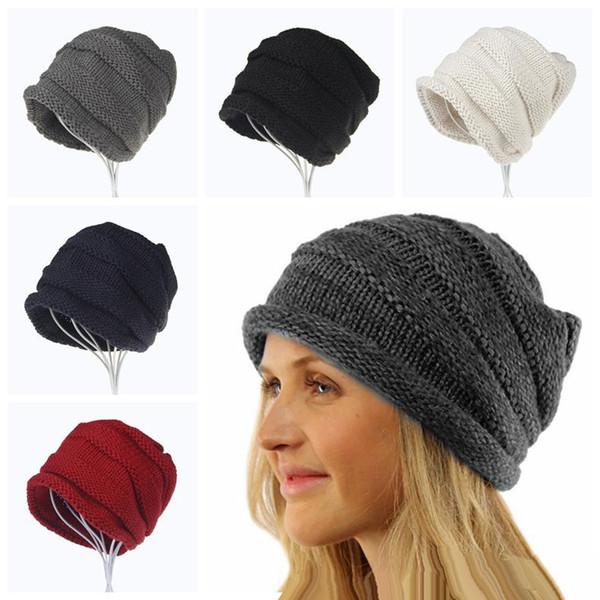 Otoño e invierno señoras de cachemir sombrero que se encrespa cálido orejeras gorra que prensan wonen hombres invierno moda gorro