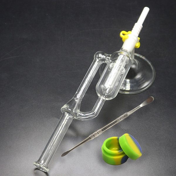 Nector Kits With Stand Base Wax Dab Rigs 14mm 18mm Joint Small Oil Rigs Mini Ash Catcher Kit For Smoking