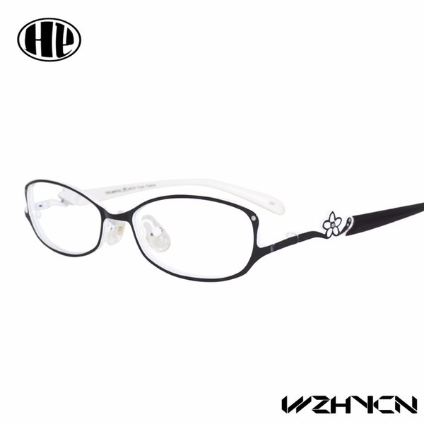 2018 Retro  Women Glasses Frame Clear Lens Oculos Alloy Lady Eye Glasses Floral Optical Frames Vintage Female Eyewear