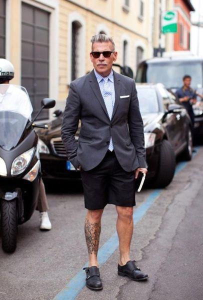 2018 New Light Blue Casual Summer Suit con pantalone corto 2 pezzi (giacca + pantaloni + cravatta) Custom Made Terno Ultimi disegni Blazer 388