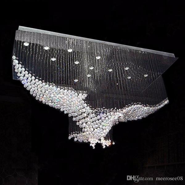 New Eagles Design Luxury Modern Crystal Chandelier Light Lustres Hall Cristal Lamp Home Lighting for Ceiling Lamp