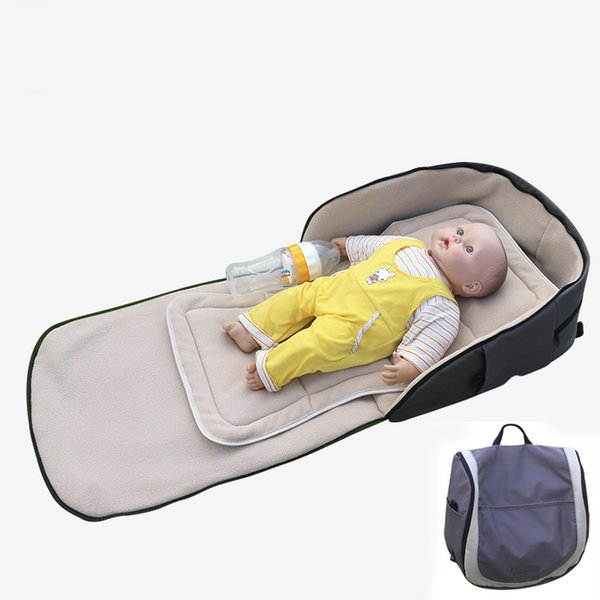 Portable Baby Bed Travel 90*40cm Foldable Indoor Outdoor Baby Cots Sleeping Travel Bed Portable Crib Newborn Changing Table