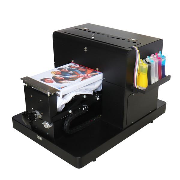 2018 venda quente tamanho A4 máquina impressora de mesa para impressão de cor escura T-shirt diretamente roupas impressora caso do telefone