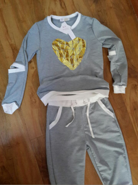 grey heart sports set