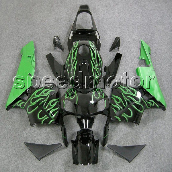 colors+Gifts Injection mold green flames F5 03 04 CBR600 RR motorcycle cowl Fairing for HONDA CBR600RR 2003 2004 ABS plastic kit