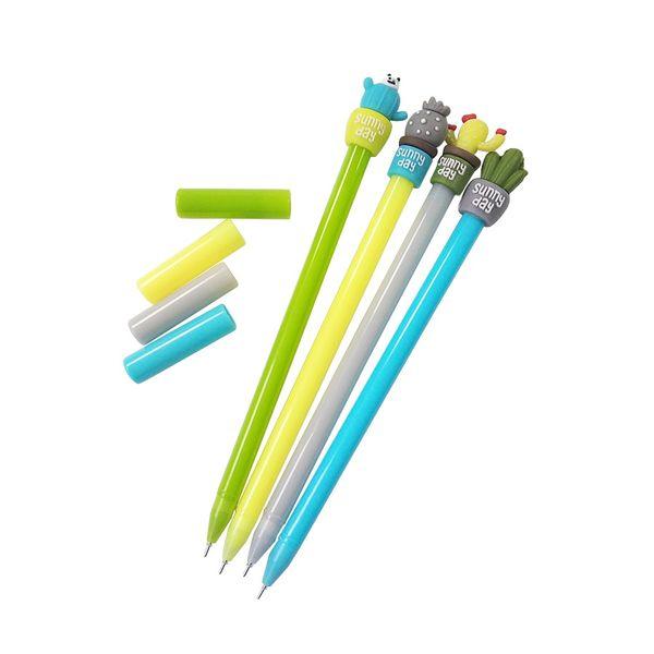 1 Unids / lote Lindo en maceta cactus gel pluma pluma bolígrafos papelería material escolar material escolar oficina papelaria niños regalos