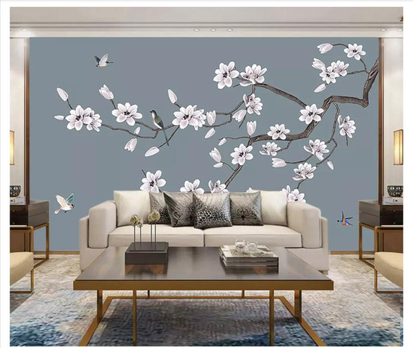 3d Wall Murals Wallpaper Custom Picture Mural Wall Paper Hand Painted Magnolia New Chinese Flower And Bird Decorative Painting Wall Hd Free Wallpapers