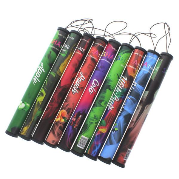 E ShiSha Time disposable electronic cigarette - On sale Enough 500 Puffs Various fruit flavors colorful disposable E-cigs hookah pen