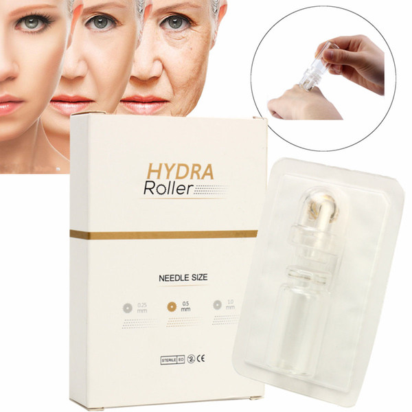 best selling Titanium Dermaroller Microneedle Automatic Hydra Derma Roller 64 Gold Tips Microneedling With Gel Bottle For Skin Rejuvenation Anti Aging