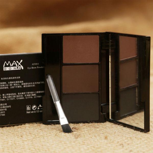 Eyebrow Powder Palette Cosmetic Eyes Makeup Shading Brush Mirror Box Eyebrow Enhancer Beauty Make up Tool beauty product 3 Color