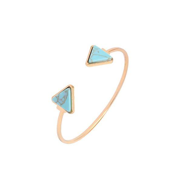 Gothic Vintage Fashion Adjustable Geometric Triangle Stone Open Bracelets Bangles For Women Jewelry Men Girl Cuff Pulseras NY-056