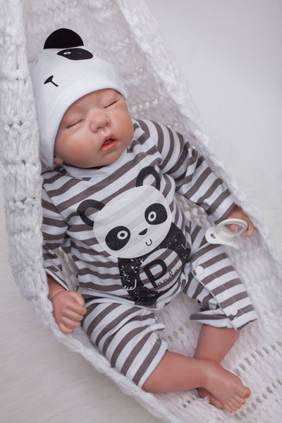 49cm/20 inch Handmade Reborn Baby Doll Girl Newborn Life like Soft Vinyl silicone Soft Gentle Touch Cloth Body Magnetic pacifier/YDK-1R1