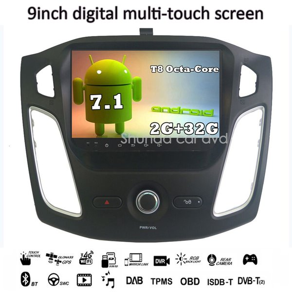 SHUNDA HD 10.1inch Android 7.1 T8 for Ford Focus 2012-2016 car dvd player with GPS 3G 4G WIFI BT Navi Stereo Radio SWC RDS map